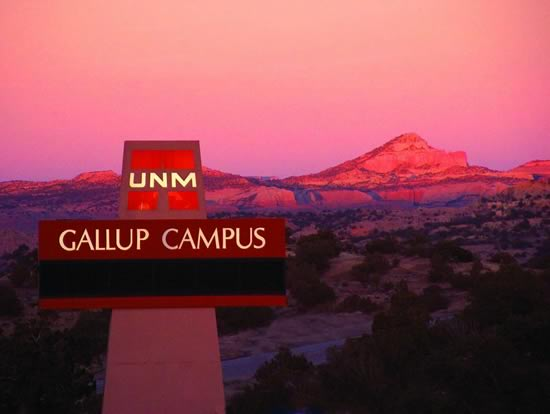 UNM Gallup sign